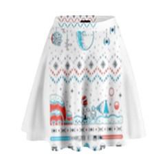That Snow Moon Star Wars  Ugly Holiday Christmas High Waist Skirt