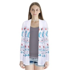 That Snow Moon Star Wars  Ugly Holiday Christmas Drape Collar Cardigan
