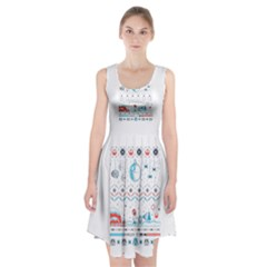 That Snow Moon Star Wars  Ugly Holiday Christmas Racerback Midi Dress