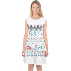 That Snow Moon Star Wars  Ugly Holiday Christmas Capsleeve Midi Dress