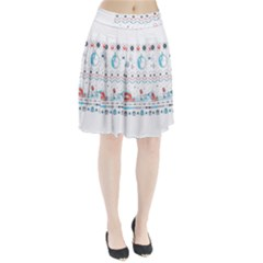 That Snow Moon Star Wars  Ugly Holiday Christmas Pleated Skirt