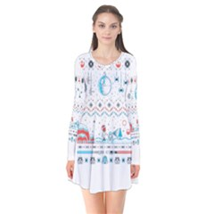 That Snow Moon Star Wars  Ugly Holiday Christmas Flare Dress
