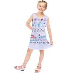 That Snow Moon Star Wars  Ugly Holiday Christmas Kids  Tunic Dress