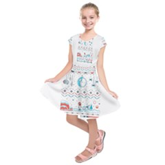 That Snow Moon Star Wars  Ugly Holiday Christmas Kids  Short Sleeve Dress