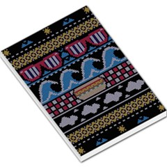 Ugly Summer Ugly Holiday Christmas Black Background Large Memo Pads