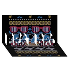 Ugly Summer Ugly Holiday Christmas Black Background Best Bro 3d Greeting Card (8x4)