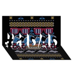 Ugly Summer Ugly Holiday Christmas Black Background #1 Dad 3d Greeting Card (8x4)
