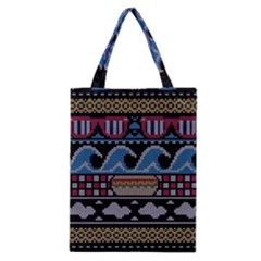Ugly Summer Ugly Holiday Christmas Black Background Classic Tote Bag