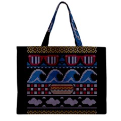 Ugly Summer Ugly Holiday Christmas Black Background Zipper Mini Tote Bag