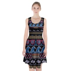 Ugly Summer Ugly Holiday Christmas Black Background Racerback Midi Dress