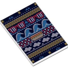 Ugly Summer Ugly Holiday Christmas Blue Background Large Memo Pads