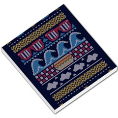 Ugly Summer Ugly Holiday Christmas Blue Background Small Memo Pads