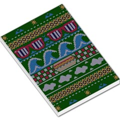 Ugly Summer Ugly Holiday Christmas Green Background Large Memo Pads