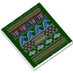 Ugly Summer Ugly Holiday Christmas Green Background Small Memo Pads