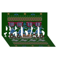 Ugly Summer Ugly Holiday Christmas Green Background #1 Dad 3d Greeting Card (8x4)
