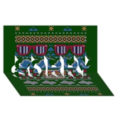 Ugly Summer Ugly Holiday Christmas Green Background Sorry 3d Greeting Card (8x4)