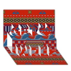 Ugly Summer Ugly Holiday Christmas Red Background Get Well 3D Greeting Card (7x5)