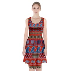 Ugly Summer Ugly Holiday Christmas Red Background Racerback Midi Dress