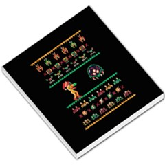 We Wish You A Metroid Christmas Ugly Holiday Christmas Black Background Small Memo Pads