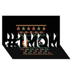 We Wish You A Metroid Christmas Ugly Holiday Christmas Black Background #1 Mom 3d Greeting Cards (8x4)