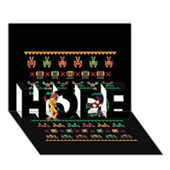 We Wish You A Metroid Christmas Ugly Holiday Christmas Black Background Hope 3d Greeting Card (7x5)