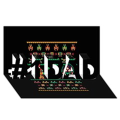 We Wish You A Metroid Christmas Ugly Holiday Christmas Black Background #1 DAD 3D Greeting Card (8x4)