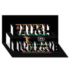 We Wish You A Metroid Christmas Ugly Holiday Christmas Black Background Laugh Live Love 3d Greeting Card (8x4)