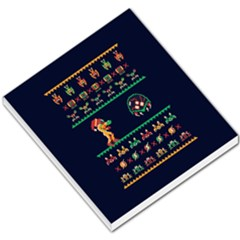 We Wish You A Metroid Christmas Ugly Holiday Christmas Blue Background Small Memo Pads