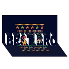 We Wish You A Metroid Christmas Ugly Holiday Christmas Blue Background Best Bro 3d Greeting Card (8x4)