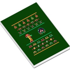 We Wish You A Metroid Christmas Ugly Holiday Christmas Green Background Large Memo Pads