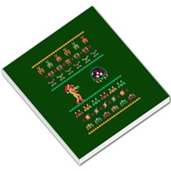 We Wish You A Metroid Christmas Ugly Holiday Christmas Green Background Small Memo Pads