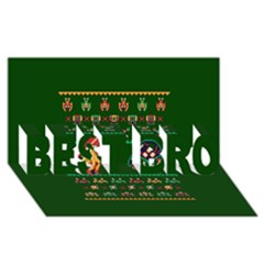 We Wish You A Metroid Christmas Ugly Holiday Christmas Green Background Best Bro 3d Greeting Card (8x4)