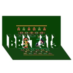 We Wish You A Metroid Christmas Ugly Holiday Christmas Green Background Best Sis 3d Greeting Card (8x4)