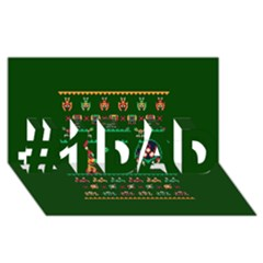 We Wish You A Metroid Christmas Ugly Holiday Christmas Green Background #1 Dad 3d Greeting Card (8x4)