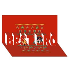 We Wish You A Metroid Christmas Ugly Holiday Christmas Red Background Best Bro 3d Greeting Card (8x4)