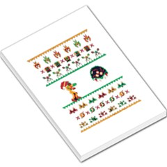 We Wish You A Metroid Christmas Ugly Holiday Christmas Large Memo Pads