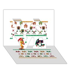 We Wish You A Metroid Christmas Ugly Holiday Christmas Love 3d Greeting Card (7x5)