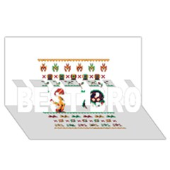 We Wish You A Metroid Christmas Ugly Holiday Christmas BEST BRO 3D Greeting Card (8x4)