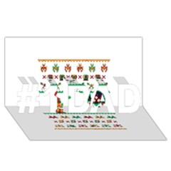 We Wish You A Metroid Christmas Ugly Holiday Christmas #1 DAD 3D Greeting Card (8x4)