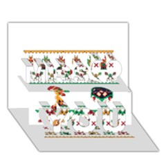 We Wish You A Metroid Christmas Ugly Holiday Christmas Miss You 3d Greeting Card (7x5)