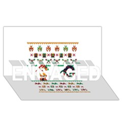We Wish You A Metroid Christmas Ugly Holiday Christmas ENGAGED 3D Greeting Card (8x4)