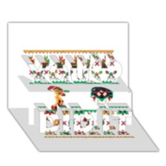 We Wish You A Metroid Christmas Ugly Holiday Christmas You Did It 3d Greeting Card (7x5)