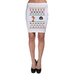 We Wish You A Metroid Christmas Ugly Holiday Christmas Bodycon Skirt