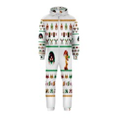 We Wish You A Metroid Christmas Ugly Holiday Christmas Hooded Jumpsuit (kids)