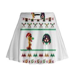 We Wish You A Metroid Christmas Ugly Holiday Christmas Mini Flare Skirt
