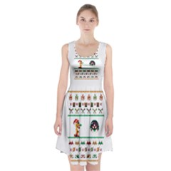 We Wish You A Metroid Christmas Ugly Holiday Christmas Racerback Midi Dress