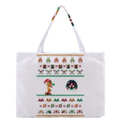 We Wish You A Metroid Christmas Ugly Holiday Christmas Medium Tote Bag