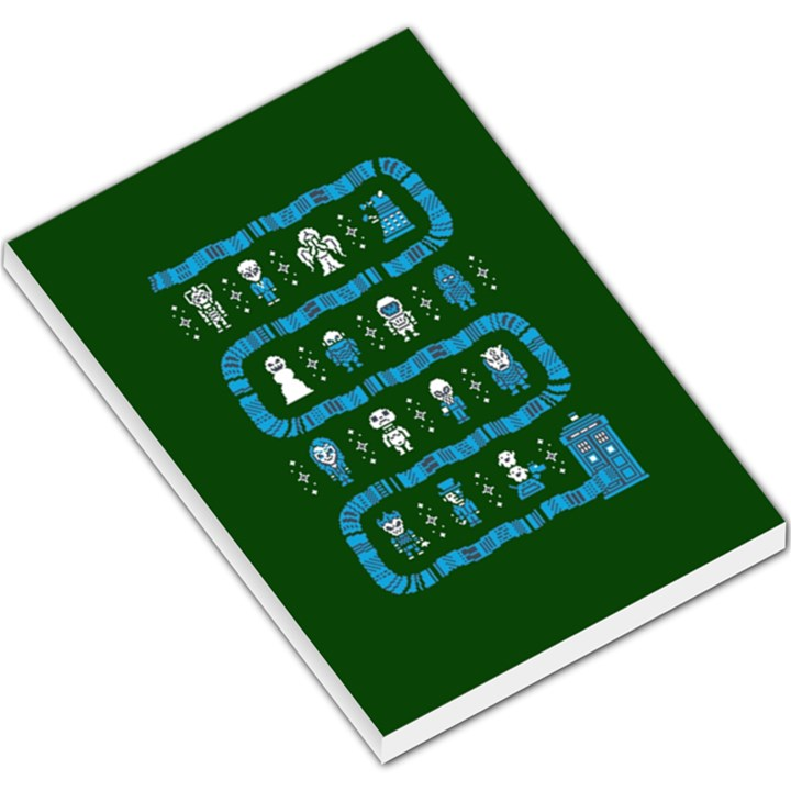 Who Is Outside Ugly Holiday Christmas Green Background Large Memo Pads