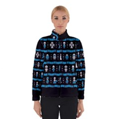Who Is Outside Ugly Holiday Christmas Black Background Winterwear
