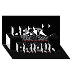 Winter Is Coming Game Of Thrones Ugly Christmas Black Background Best Friends 3d Greeting Card (8x4)